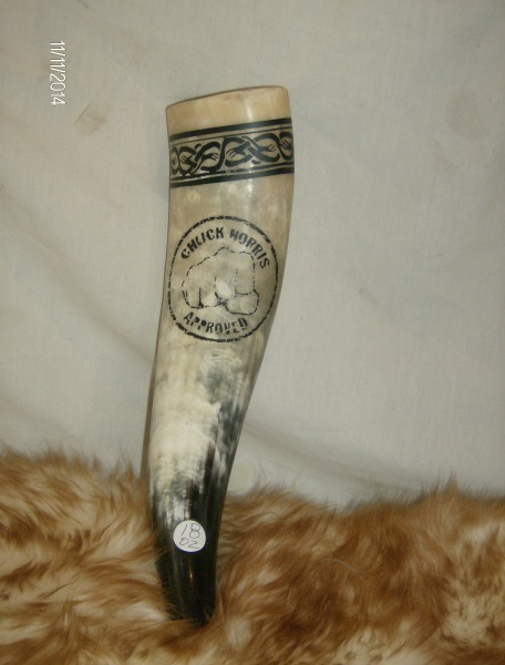 """Chuck Norris Approved"" Drinking Horn"